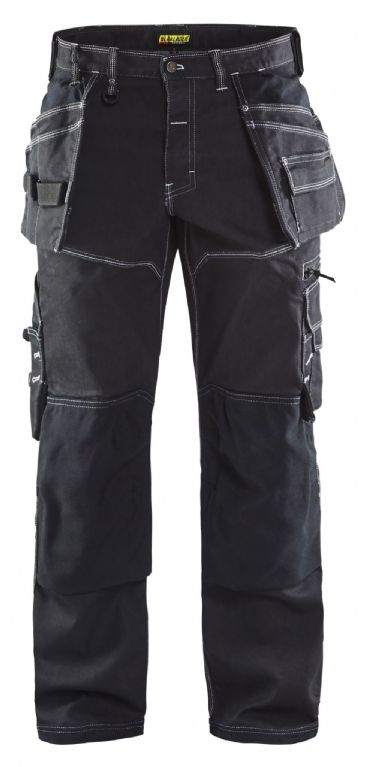 CLEARANCE Blaklader 1960 Stretch Cordura Denim Craftsman Trousers X1900 - 19601141 (Black) C146 32L